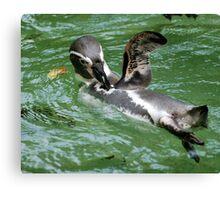 Penguin Wave Canvas Print