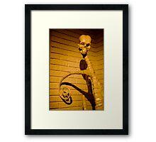skull sculpture Framed Print