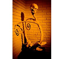 skull sculpture Photographic Print