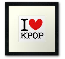I LOVE KPOP Framed Print