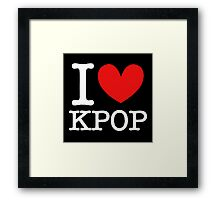 I LOVE KPOP 2 Framed Print