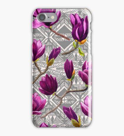 Watercolor Magnolia Tribal iPhone Case/Skin
