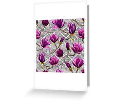 Watercolor Magnolia Tribal Greeting Card