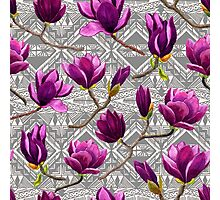 Watercolor Magnolia Tribal Photographic Print