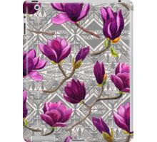 Watercolor Magnolia Tribal iPad Case/Skin