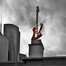 Guitar Downtown Houston by venny