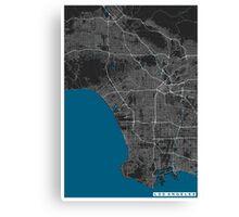 Los Angeles city map black colour Canvas Print