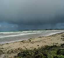 Winter storm at beach by Steve9