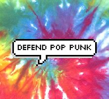 Defend Pop Punk Tie Dye by deathspell