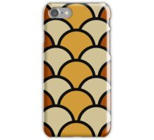 Vintage Retro Polkadot Brown Pattern iPhone Case/Skin
