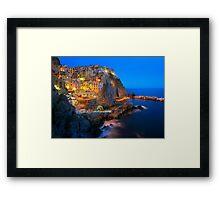 Manarola Notte Framed Print