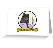 Frederick the Corporate Wolf Greeting Card
