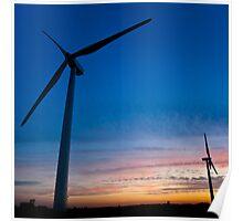 Windmill Sunset - Harthill Poster