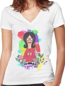 Linda Belcher Women's Fitted V-Neck T-Shirt