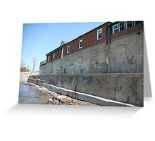 Lake Erie Shore Building Greeting Card