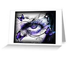 Realm of the Seasons - Icy stare of WINTER  Greeting Card