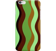 Green Brown Natural Wave iPhone Case/Skin