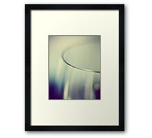 Rim - Abstract Blue and White Wine Glass Framed Print