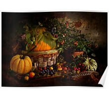 Pumpkin, Squashes and Hedgerow Fruit Poster