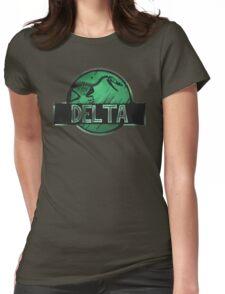jurassic world delta raptor Womens Fitted T-Shirt