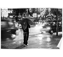Rainy Night in Westminster Poster