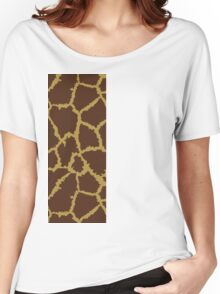 Brown Leopard Texture Women's Relaxed Fit T-Shirt