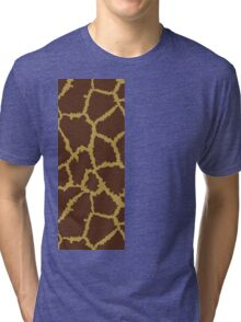 Brown Leopard Texture Tri-blend T-Shirt