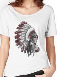 Red Indian - Color  Women's Relaxed Fit T-Shirt