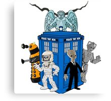 doctor who daleks cyberman silence tardis Canvas Print
