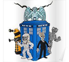 doctor who daleks cyberman silence tardis Poster