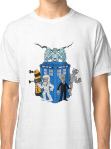 doctor who daleks cyberman silence tardis Classic T-Shirt