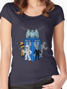doctor who daleks cyberman silence tardis Women's Fitted Scoop T-Shirt