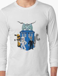 doctor who daleks cyberman silence tardis Long Sleeve T-Shirt