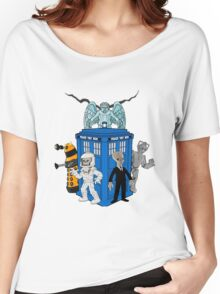 doctor who daleks cyberman silence tardis Women's Relaxed Fit T-Shirt
