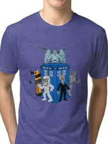 doctor who daleks cyberman silence tardis Tri-blend T-Shirt