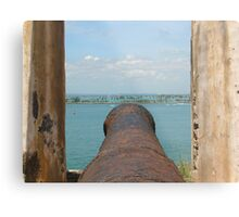 Fire Away-Manning the Morro's Cannon Metal Print