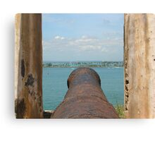 Fire Away-Manning the Morro's Cannon Canvas Print