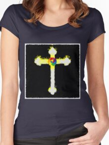 Cross of the Rosicrucians by Pierre Blanchard Women's Fitted Scoop T-Shirt