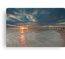 Setting Sun and Some Motion Canvas Print