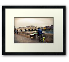 Paris Autumn Landscape Framed Print