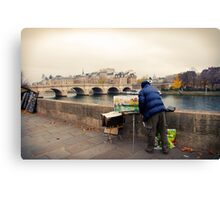 Paris Autumn Landscape Canvas Print