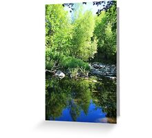 Reflections in a Quiet River Greeting Card