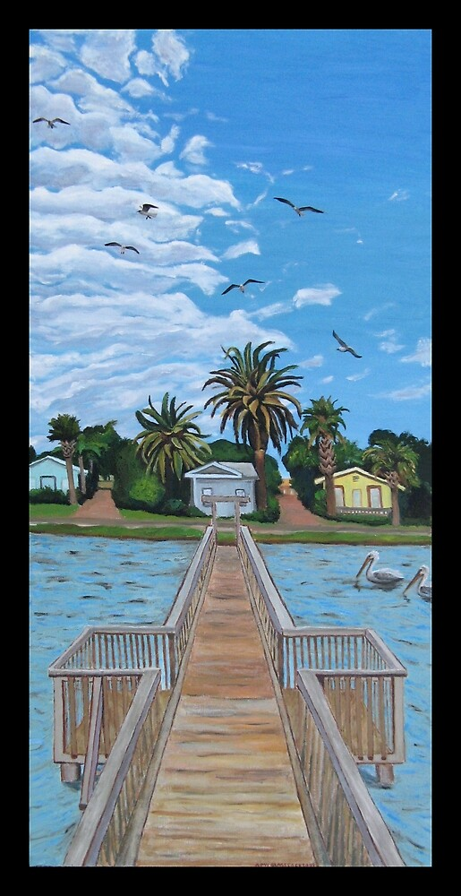 """""""Our Fishin' Spot in Rockport, Texas."""" by amyglasscockart"""