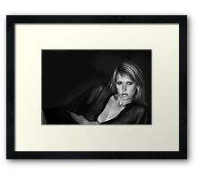 Self portrait edited by Ang Framed Print