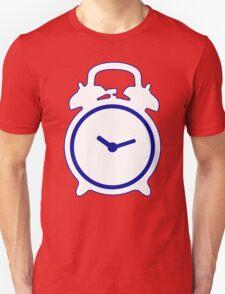 Alarm Clock and Indigo Cat Background Unisex T-Shirt