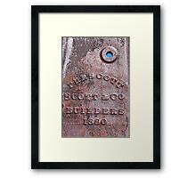 1880 Framed Print