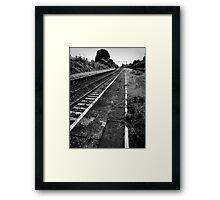 Decaying Tracks Framed Print
