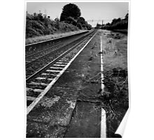 Decaying Tracks Poster