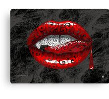 Swirly Fangs Canvas Print
