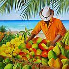 Manuel the Fruit Vendor at the Beach by Dominica Alcantara